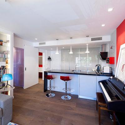 Una reforma de 70 m² con un gran espacio diáfano