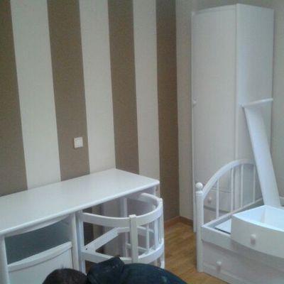 Rayas verticales, pintura habitación y lacar dormitorio