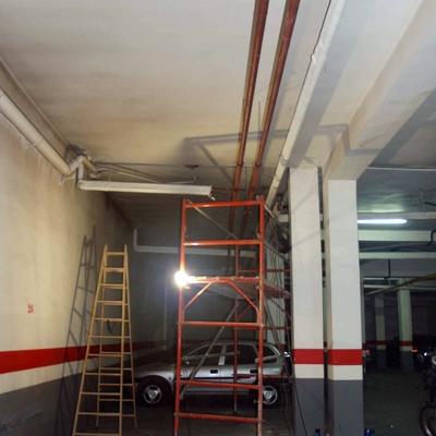 Obra de reforma de las canalizaciones de calefacción en Zaragoza