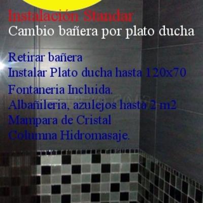 Cambio bañera por ducha