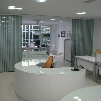 Oficina acristalada