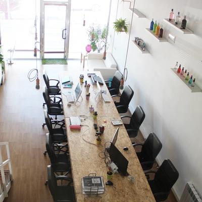 Decoración integral de una oficina coworking