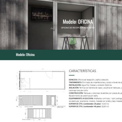Construcción de oficinas prefabricadas.