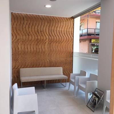 Panel de madera lacado