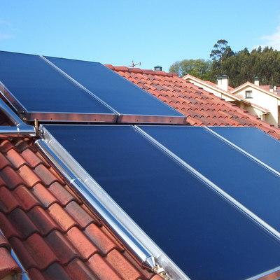 Paneles de energía solar térmica