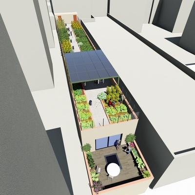 Instalación Fotovoltaica con cubierta verde