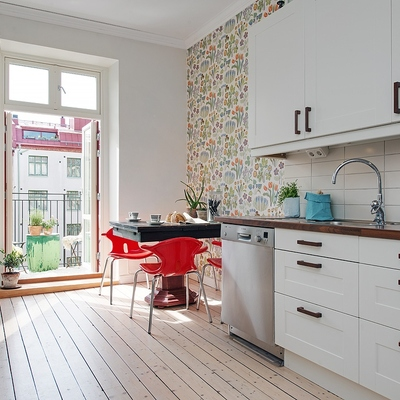 Ideas de poner papel pintado para inspirarte habitissimo - Papel pintado cocina ...