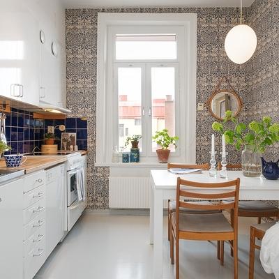 Ideas y fotos de revestimiento paredes cocina para - Papel pintado cocina ...