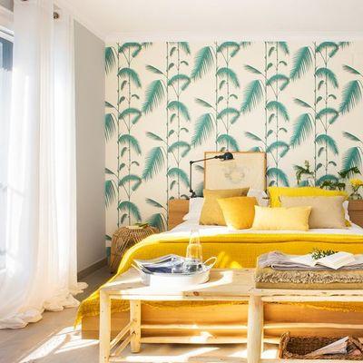 Papel pintado tropical de cabezal