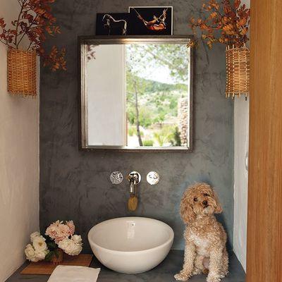 pared baño microcemento