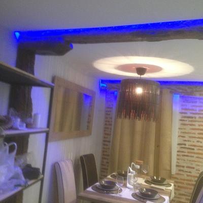 Cocina ,iluminacion con led,