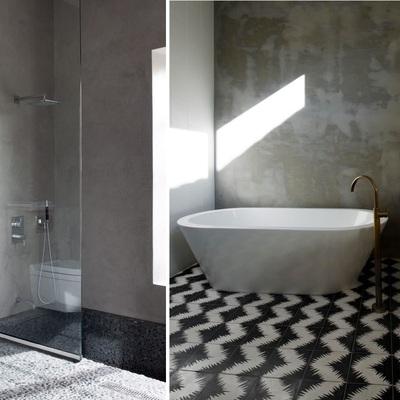 Baños de cemento, una opción asequible y duradera