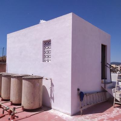 Pintando una terraza