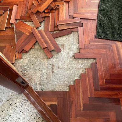 Reparación de parquet en vivienda privada