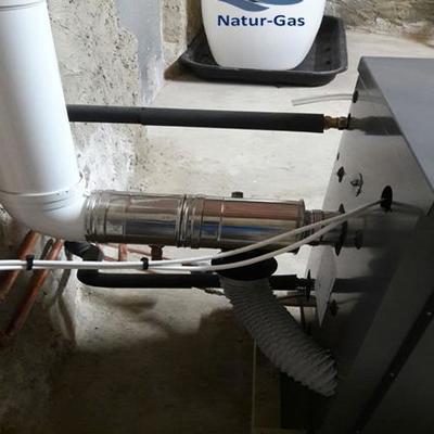 CALEFACCION COMPLETA GASOIL , CALDERA ESTANCA