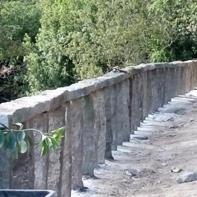 Balaustrada postes piedra