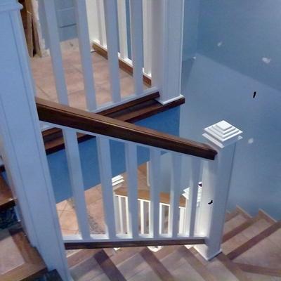 Como hacer un pasamanos de madera escalera madera - Como hacer escalera ...