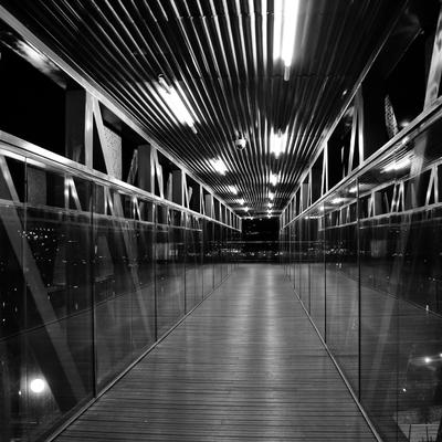 Iluminación de la pasarela de Sestao en Vizcaya
