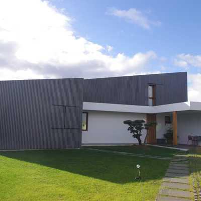 Passivhaus Muros del Nalon terminada fachada norte