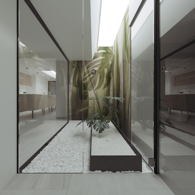 Casa patio. Reforma integral de vivienda y diseño de mobiliario en Vegueta
