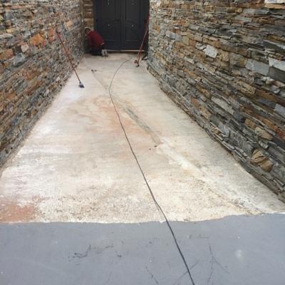 Colocación de terrazo
