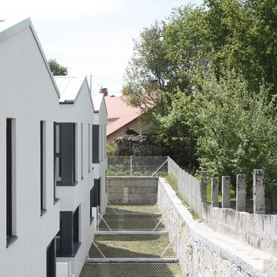 Patios traseros de las viviendas