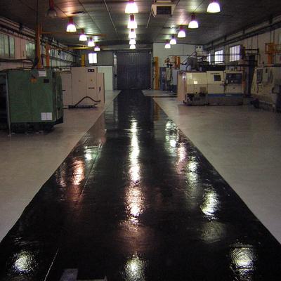 pavimento de resina acabado