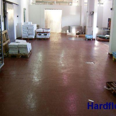 pavimento epoxi antideslizante en ind. cárnica