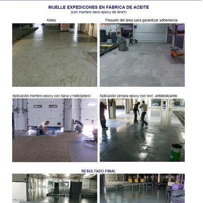 pavimento epoxi en almacén - muelle expediciones