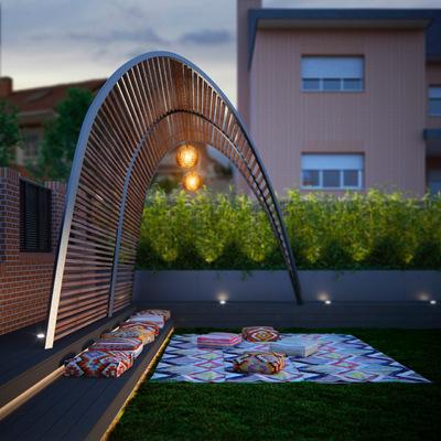 Proyecto de paisajismo para  jardín Chalet Independiente Unifamiliar