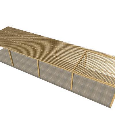Pérgoles de madera para grandes superficies