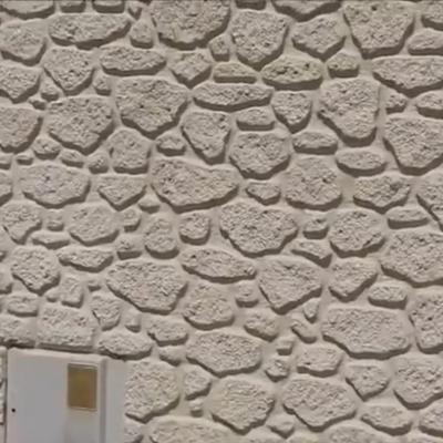 Renovamos un viejo muro con nuestra técnica de piedra artificial