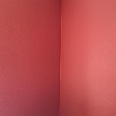 Pintado en color rojo