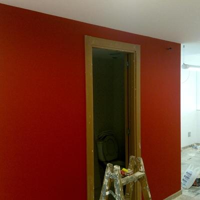 pintado de oficina.