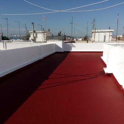 Pintado y impermeabilizado de terraza.