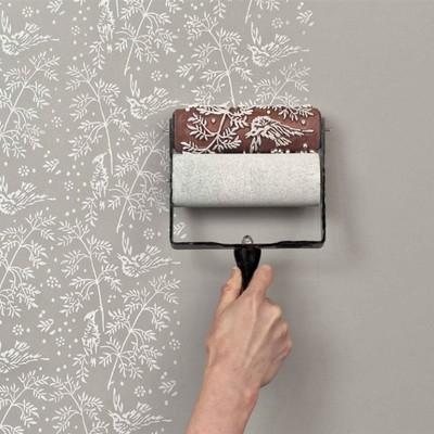 pintar pared con flores