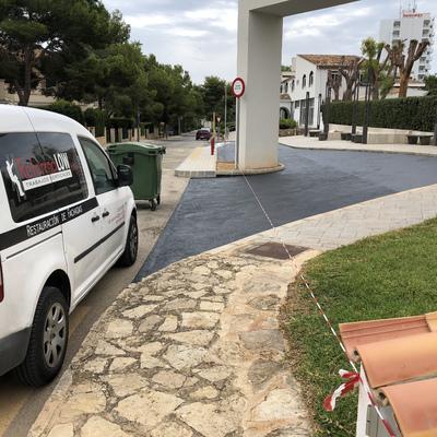 PINTURA DE SUELOS EN HOTEL