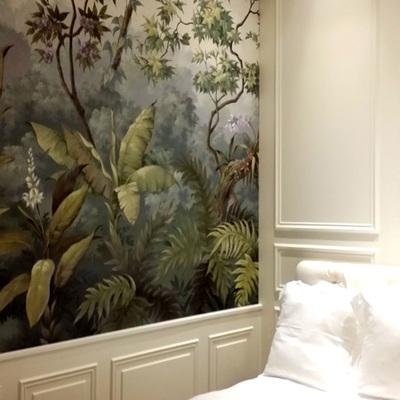Pintura decorativa en paredes del hogar