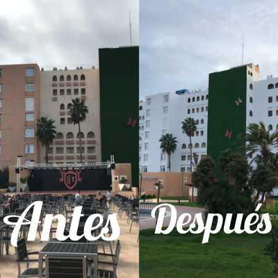 PINTURA DE EXTERIORES HOTEL EURO CALAS