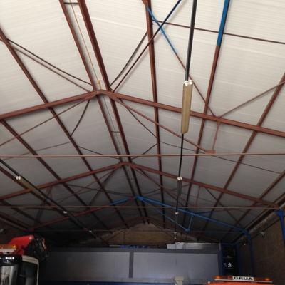 Lijado,Limpieza Y Pintura Estructura Herrajes Nave Industrial