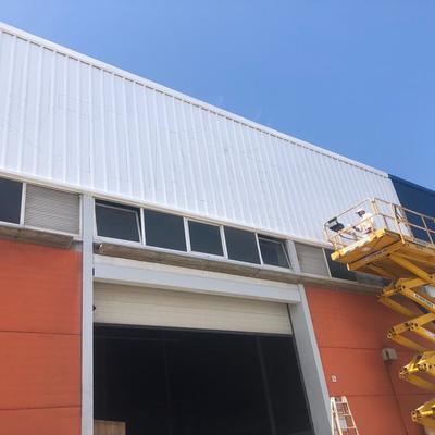 Pintura exterior de nave industrial
