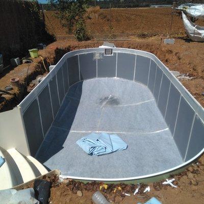 Construcción de piscina.
