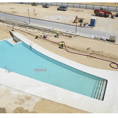 Construcción de piscina en Hotel