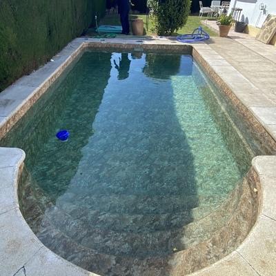 Rehabilitación de piscina de poliester con LINER