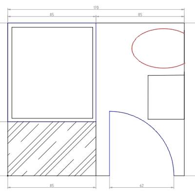 Reforma integral baño de 2 m2