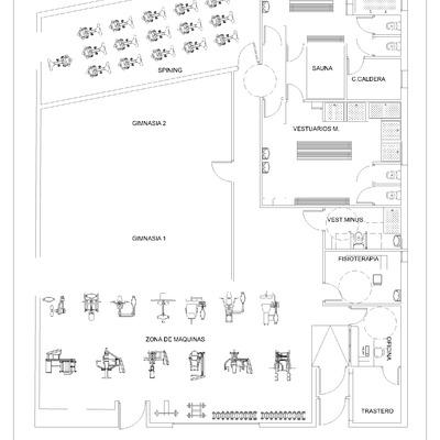 Proyecto de Actividad y Reforma, de adecuación de local para albergar un gimnasio