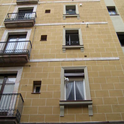 Plano vertical de fachada terminada
