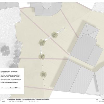 Urbanització de la plaça de la Constitució d'Ultramort