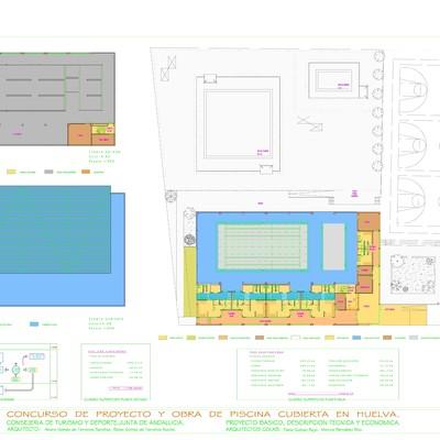 Colaboración para el concurso de proyecto y obra de piscina cubierta en Huelva.