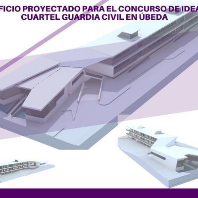 EDIFICIO PROYECTADO PARA EL CONCURSO DE IDEAS CUARTEL GUARDIA CIVIL EN ÚBEDA